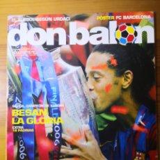 Coleccionismo deportivo: DON BALÓN N°1597 - BARÇA, CAMPEÓN DE EUROPA, BESAN LA GLORIA. Lote 191545055