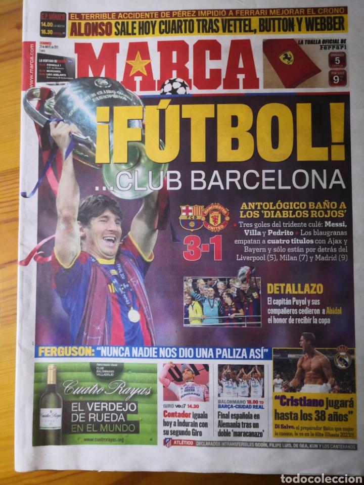 DIARIO MARCA - 29 DE MAYO DE 2011: FC BARCELONA. MESSI EN PORTADA LEVANTANDO LA CUARTA CHAMPIONS (Coleccionismo Deportivo - Revistas y Periódicos - Marca)