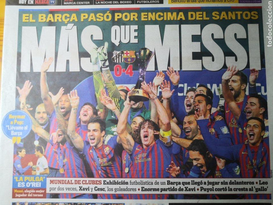 Coleccionismo deportivo: Diario Marca - 19 diciembre 2011 : Santos 0-4 Barça, campeón del Mundialito de Clubes - Foto 2 - 191545373
