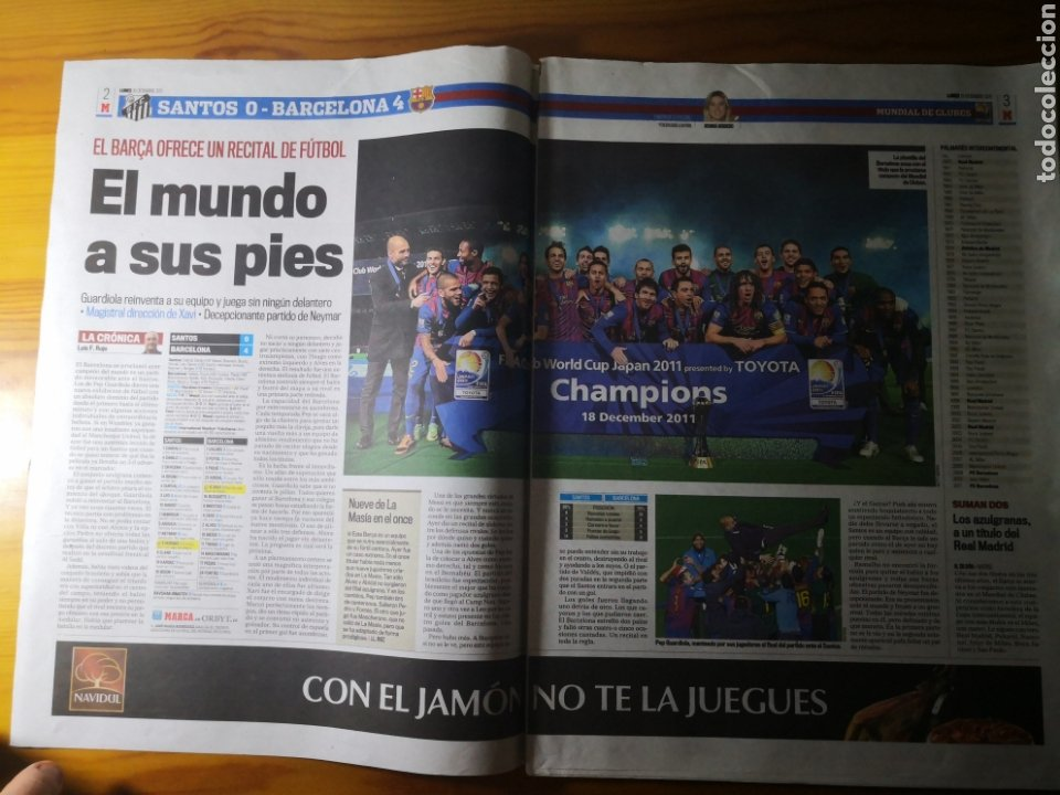 Coleccionismo deportivo: Diario Marca - 19 diciembre 2011 : Santos 0-4 Barça, campeón del Mundialito de Clubes - Foto 3 - 191545373