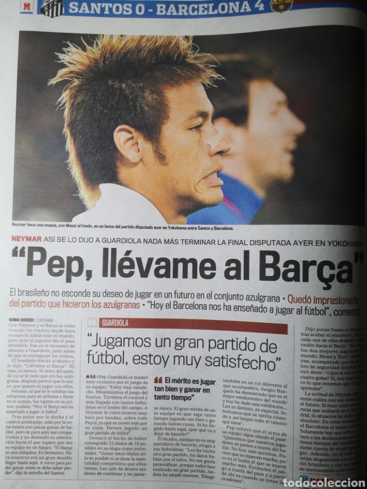 Coleccionismo deportivo: Diario Marca - 19 diciembre 2011 : Santos 0-4 Barça, campeón del Mundialito de Clubes - Foto 4 - 191545373