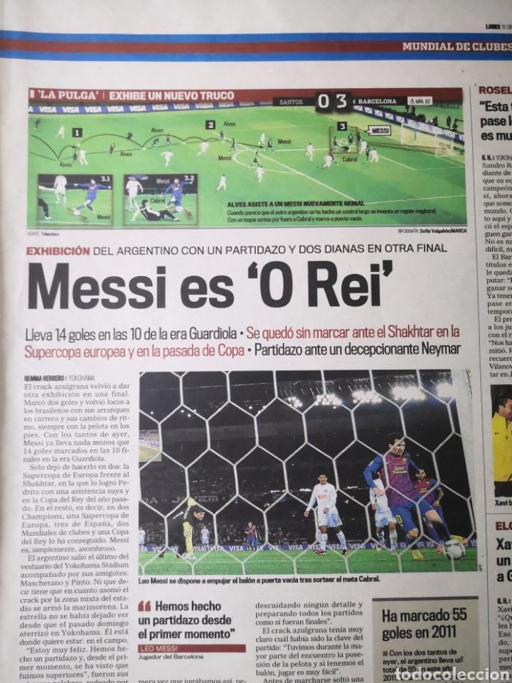 Coleccionismo deportivo: Diario Marca - 19 diciembre 2011 : Santos 0-4 Barça, campeón del Mundialito de Clubes - Foto 5 - 191545373