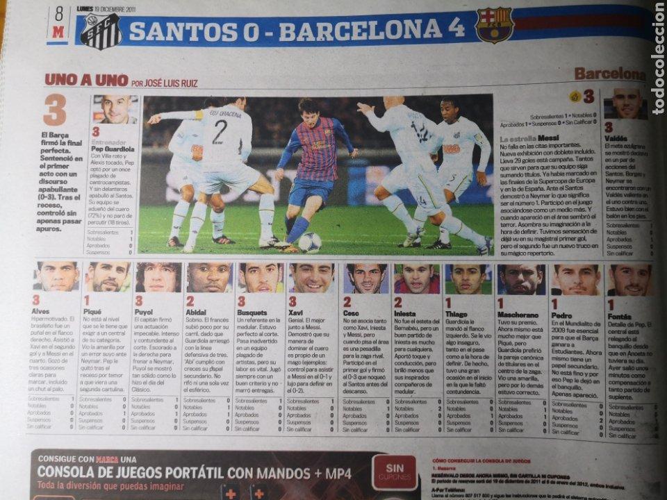 Coleccionismo deportivo: Diario Marca - 19 diciembre 2011 : Santos 0-4 Barça, campeón del Mundialito de Clubes - Foto 6 - 191545373