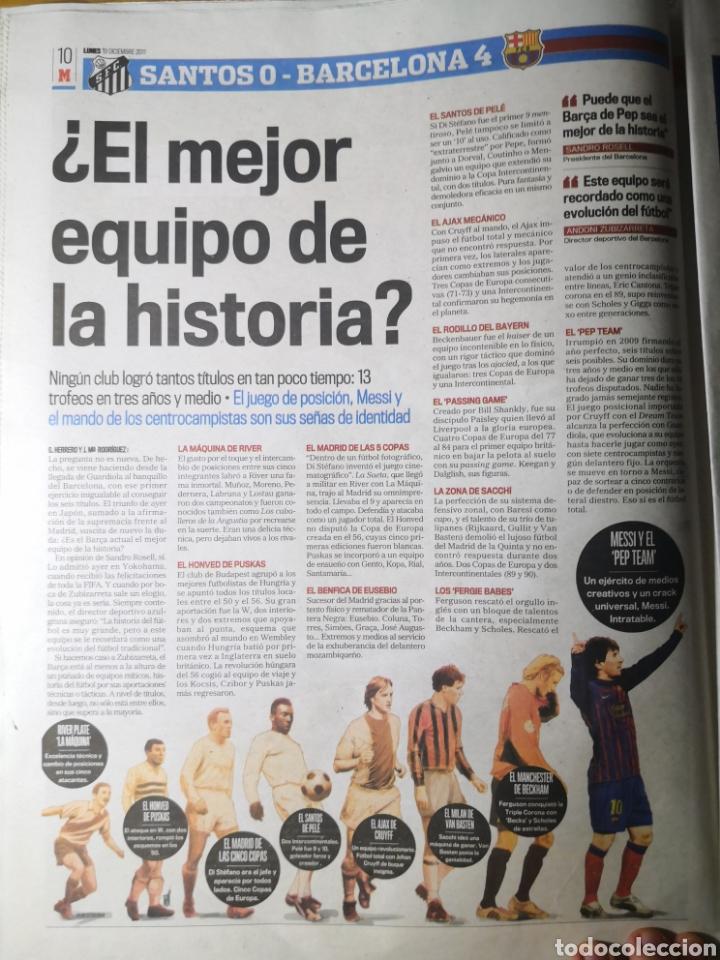 Coleccionismo deportivo: Diario Marca - 19 diciembre 2011 : Santos 0-4 Barça, campeón del Mundialito de Clubes - Foto 7 - 191545373