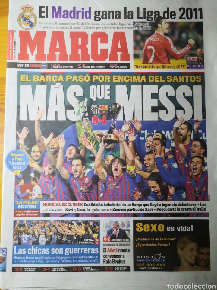 DIARIO MARCA - 19 DICIEMBRE 2011 : SANTOS 0-4 BARÇA, CAMPEÓN DEL MUNDIALITO DE CLUBES (Coleccionismo Deportivo - Revistas y Periódicos - Marca)