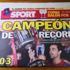 Coleccionismo deportivo: DIARIO SPORT - 26 MAYO 2012 - CAMPEÓN DE RÉCORD - BARÇA CAMPEÓN DE COPA DEL REY - MESSI. Lote 191609395