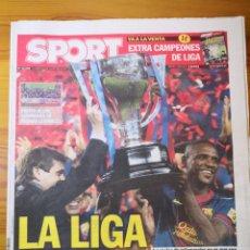Coleccionismo deportivo: DIARIO SPORT - 20 MAYO 2013 - LA LIGA DE TITO Y ABIDAL - INCLUYE POSTER CENTRAL - MESSI. Lote 191610701