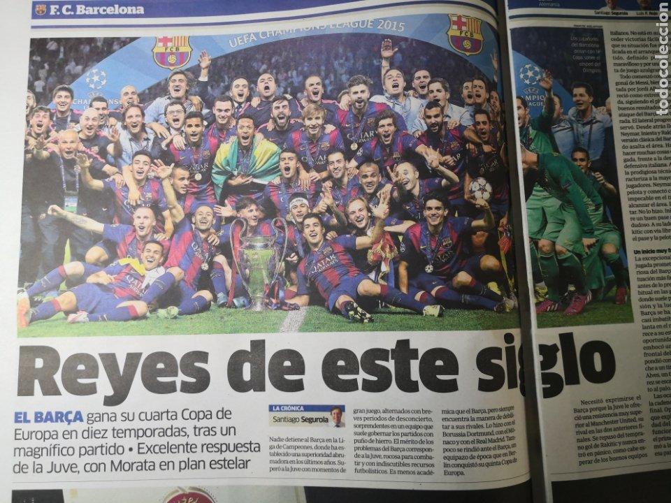 Coleccionismo deportivo: Diario Marca - 7 junio 2015 - Quinta de Oro - Cuarta Champions del Barcelona en 10 años - Foto 2 - 191613437