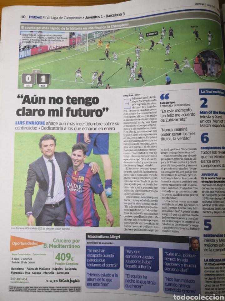 Coleccionismo deportivo: Diario Marca - 7 junio 2015 - Quinta de Oro - Cuarta Champions del Barcelona en 10 años - Foto 4 - 191613437