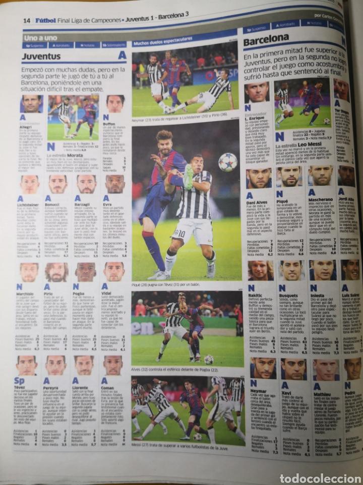 Coleccionismo deportivo: Diario Marca - 7 junio 2015 - Quinta de Oro - Cuarta Champions del Barcelona en 10 años - Foto 5 - 191613437