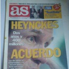 Coleccionismo deportivo: AS 12/6/1997 HEYNCKES. ACUERDO CERRADO. Lote 191746718