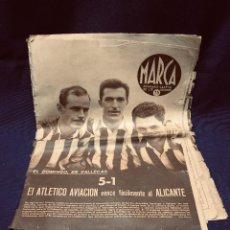 Coleccionismo deportivo: ANTIGUO PERIÓDICO DEPORTIVO MARCA SEMANARIO GRÁFICO DEPORTES ATLÉTICO DE AVIACIÓN AÑO V 1942 MADRID. Lote 191757893