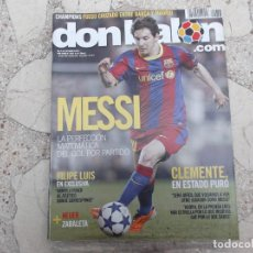 Coleccionismo deportivo: DON BALON Nº 1853,2011, MESSI, CLEMENTE, FILIPE LUIS,ZABALETA,NEUER,. Lote 191769137