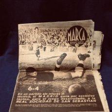 Coleccionismo deportivo: REVISTA FÚTBOL MARCA Nº 152 PORTADA MADRID REAL SOCIEDAD 6-1 6 ENERO 1942. Lote 192007356