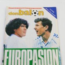 Colecionismo desportivo: REVISTA DON BALON NUMERO 622 SEPTIEMBRE 1987 REAL MADRID NAPOLES POSTER BETIS VALLADOLID VER SUMARIO. Lote 192161337