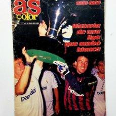 Coleccionismo deportivo: AS COLOR 177 EXTRA 1988-1989 CON POSTER REAL MADRID - BARCELONA - ATLETICO MADRID Y RESTO EQUIPOS. Lote 192345941