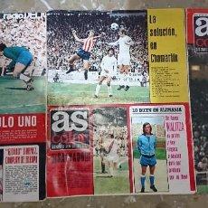 Coleccionismo deportivo: LOTE 3 REVISTAS AS COLOR AÑOS 1973 NUMEROS 104, 106 Y 107 . POSTER RAYO VALLECANO. Lote 192365152