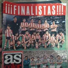 Coleccionismo deportivo: ANTIGUA REVISTA FUTBOL AS COLOR N 110 26 JUNIO 1973 BILBAO FINALISTA , POSTER CENTRAL LAS PALMAS. Lote 192365945
