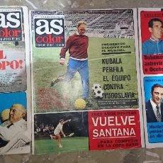 Coleccionismo deportivo: LOTE 3 REVISTAS AS COLOR AÑOS 1973 NUMEROS 112, 113 Y 114 . POSTER ATH, BILBAO . Lote 192367426