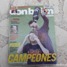 Coleccionismo deportivo: DON BALON Nº 1803, POSTER AT MADRID, CON SUPLEMENTO, EXCLUSIVA PIQUE,8 VIGESIMA LIGA PARA EL BARÇA. Lote 243532785