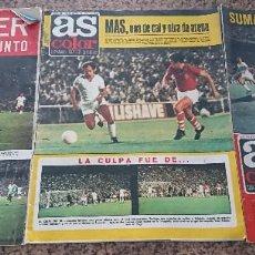 Coleccionismo deportivo: LOTE 3 REVISTAS FUTBOL DEPORTES AS COLOR AÑOS 1973 NUMEROS 120 ,122 Y 123 . Lote 192441645