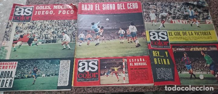 LOTE 3 REVISTAS FUTBOL DEPORTES AS COLOR AÑOS 1973 NUMEROS 134, 135 Y 136 (Coleccionismo Deportivo - Revistas y Periódicos - As)
