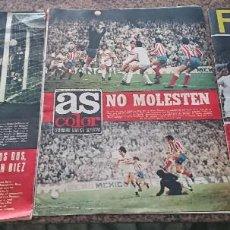 Coleccionismo deportivo: LOTE 3 REVISTAS FUTBOL DEPORTES AS COLOR AÑOS 1973 NUMEROS 138, 139 Y 140. Lote 192445267