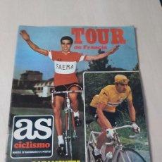 Coleccionismo deportivo: AS CICLISMO NUMERO EXTRAORDINARIO TOUR DE FRANCIA - BAHAMONTES Y EDDY MERCKX - CON POSTER CENTRAL. Lote 192447527
