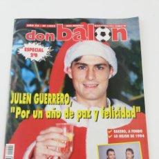 Colecionismo desportivo: REVISTA DON BALON NUMERO 1002 DICIEMBRE 1994 POSTER HRISTO STOICHKOV JULEN GUERRERO VER SUMARIO. Lote 192467161