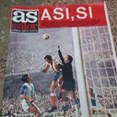 Coleccionismo deportivo: ANTIGUA REVISTA FUTBOL AS COLOR Nº 146 5 DE MARZO 1974 POSTER CENTRAL GIMNASTIC TARRAGONA. Lote 192478853