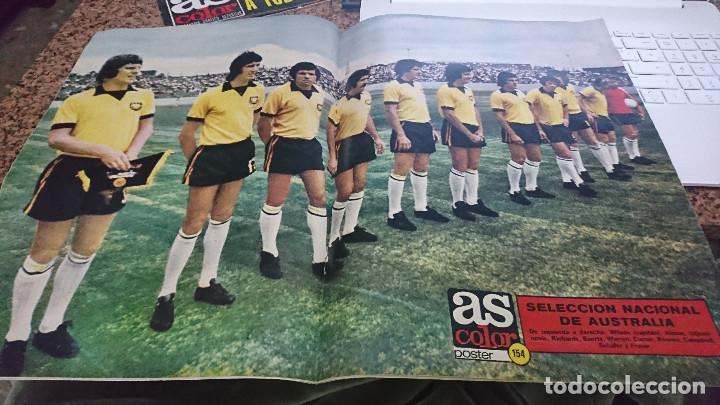 Coleccionismo deportivo: ANTIGUA REVISTA FUTBOL AS COLOR Nº 158 28 DE MAYO 1974 POSTER CENTRAL SELECCION NACIONAL AUSTRALIA - Foto 3 - 192483720