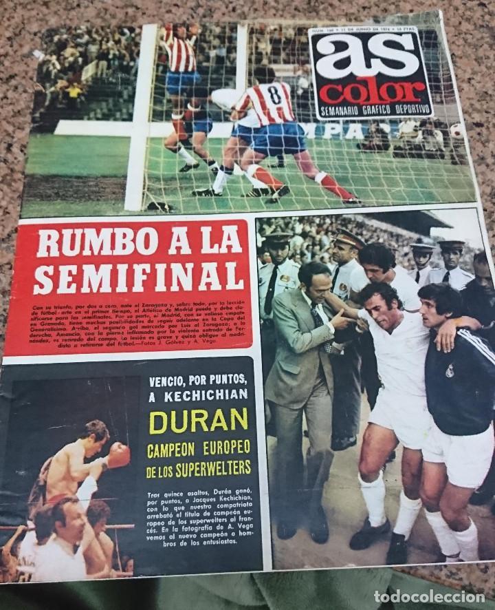 ANTIGUA REVISTA FUTBOL AS COLOR Nº 137 1 DE ENERO 1974 POSTER CENTRAL REAL ZARAGOZA (Coleccionismo Deportivo - Revistas y Periódicos - As)