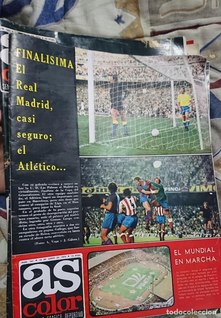 ANTIGUA REVISTA FUTBOL AS COLOR Nº 161 18 JUNIO 1974 POSTER CENTRAL BOXEADOR JOSE DURAN (Coleccionismo Deportivo - Revistas y Periódicos - As)