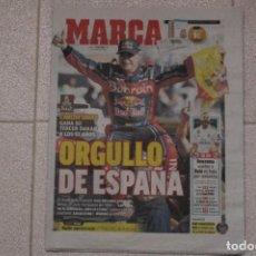 Coleccionismo deportivo: DIARIO MARCA 18/01/2020. CARLOS SAINZ GANA SU TERCER RALLY DAKAR. MOTOR. Lote 219496542