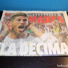 Collectionnisme sportif: DIARIO MARCA DE LA DECIMA COPA DE EUROPA DEL REAL MADRID. Lote 192830561
