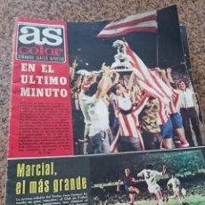 Colecionismo desportivo: ANTIGUA REVISTA FUTBOL AS COLOR Nº 171 27 AGOSTO 1974 POSTER CENTRAL REAL ZARAGOZA. Lote 192872702