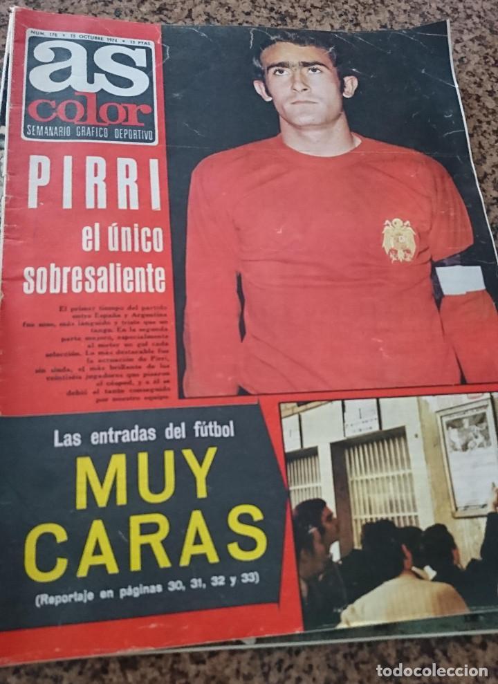 ANTIGUA REVISTA FUTBOL AS COLOR Nº 178 15 OCTUBRE 1974 POSTER CENTRAL U.D SALAMANCA (Coleccionismo Deportivo - Revistas y Periódicos - As)