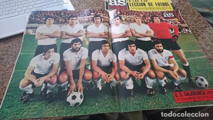 Coleccionismo deportivo: ANTIGUA REVISTA FUTBOL AS COLOR Nº 178 15 OCTUBRE 1974 POSTER CENTRAL U.D SALAMANCA - Foto 3 - 192875706