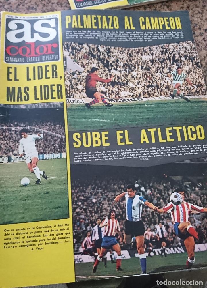 ANTIGUA REVISTA FUTBOL AS COLOR Nº 186 10 DICIEMBRE 1974 POSTER CENTRAL REAL VALLADOLID DEPORTIVO (Coleccionismo Deportivo - Revistas y Periódicos - As)