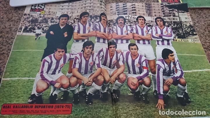 Coleccionismo deportivo: ANTIGUA REVISTA FUTBOL AS COLOR Nº 186 10 DICIEMBRE 1974 POSTER CENTRAL REAL VALLADOLID DEPORTIVO - Foto 3 - 192882645