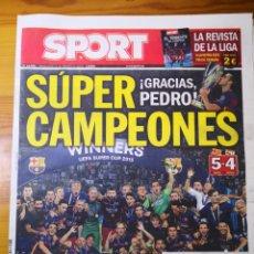 Coleccionismo deportivo: SPORT BARÇA CAMPEÓN SUPERCOPA (BARCELONA 5-4 SEVILLA) MESSI. Lote 192896666
