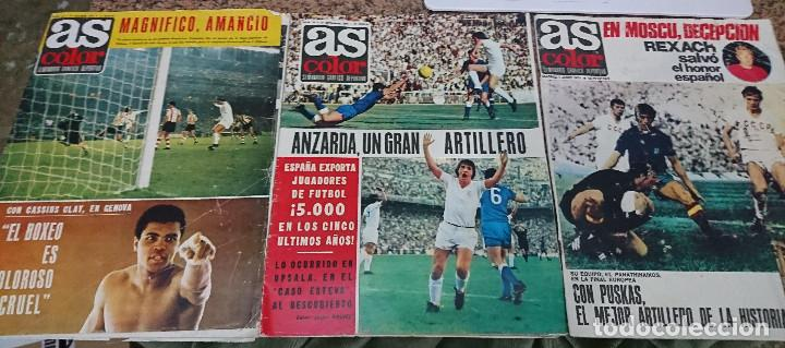LOTE 3 REVISTAS AS COLOR AÑO 1971 NUMEROS 2, 18 Y 22 . SIN POSTER CENTRAL (Coleccionismo Deportivo - Revistas y Periódicos - As)