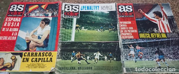 LOTE 3 REVISTAS AS COLOR AÑO 1971 NUMEROS 24, 26 Y 29 . SIN POSTER CENTRAL (Coleccionismo Deportivo - Revistas y Periódicos - As)