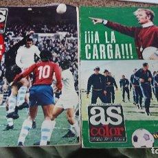 Coleccionismo deportivo: LOTE 2 REVISTAS AS COLOR AÑO 1971 NUMEROS 86 Y 92 . SIN POSTER CENTRAL. Lote 193027425