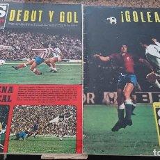 Coleccionismo deportivo: LOTE 2 REVISTAS AS COLOR FUTBOL AÑO 1975 NUMEROS 200 Y 201 . SIN POSTER CENTRAL. Lote 193066882