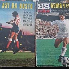 Coleccionismo deportivo: LOTE 2 REVISTAS AS COLOR FUTBOL AÑO 1975 NUMEROS 202 Y 203 . SIN POSTER CENTRAL. Lote 193067045