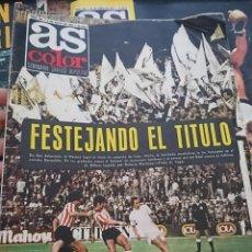 Coleccionismo deportivo: ANTIGUA REVISTA FUTBOL AS COLOR Nº 207 6 DE MAYO 1975 POSTER REAL MADRID DE BALONCESTO. Lote 193067958