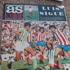 Coleccionismo deportivo: ANTIGUA REVISTA FUTBOL AS COLOR Nº 210 27 DE MAYO 1975 POSTER CENTRAL REAL SOCIEDAD. Lote 193069665