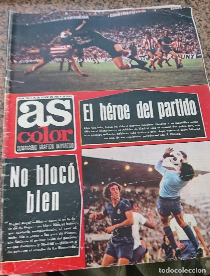 ANTIGUA REVISTA FUTBOL AS COLOR Nº 214 24 DE JUNIO 1975 POSTER CENTRAL RACING DE SANTANDER (Coleccionismo Deportivo - Revistas y Periódicos - As)