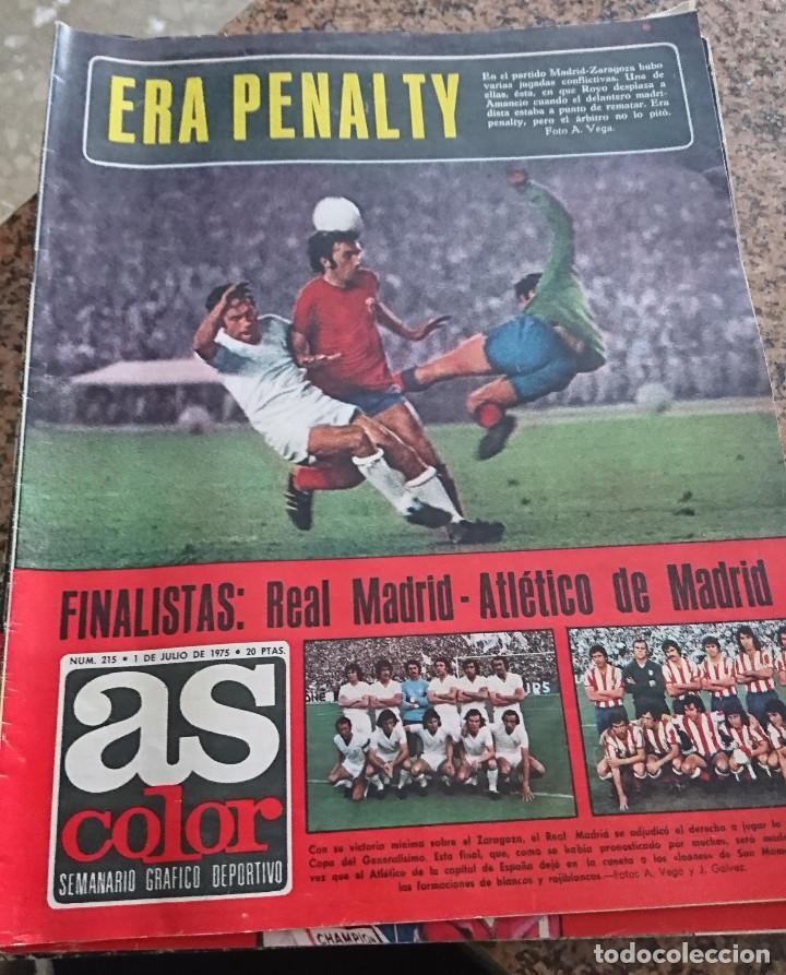 ANTIGUA REVISTA FUTBOL AS COLOR Nº 215 1 DE JULIO 1975 POSTER CENTRAL CICLISTA LUIS OCAÑA (Coleccionismo Deportivo - Revistas y Periódicos - As)